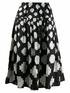 Marni pixelated print midi skirt - Black