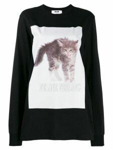 MSGM printed cat sweatshirt - Black