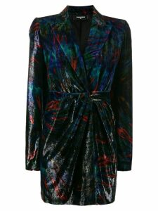 Dsquared2 velvet suit jacket dress - Black