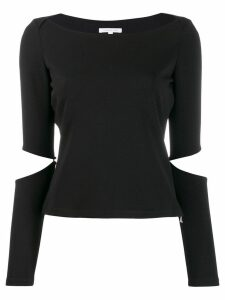 Patrizia Pepe cut out elbows T-shirt - Black