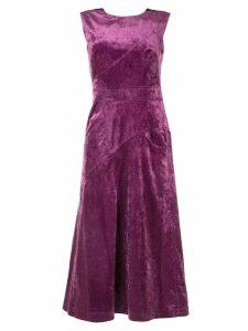 Christian Wijnants Ozra Cord dress - Purple
