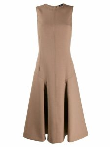 Joseph pleated yoke sleeveless dress - Neutrals