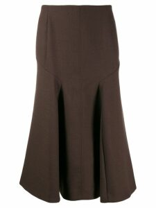 Joseph midi curved skirt - Brown