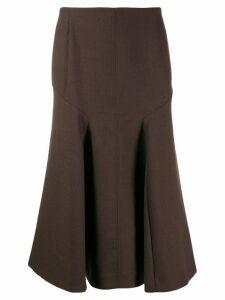 Joseph midi curved skirt - Brown