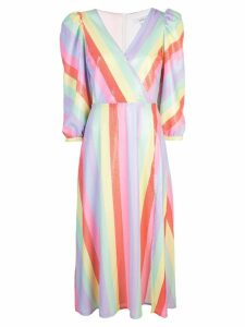 Olivia Rubin pastel stripe dress - Multicolour