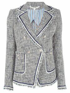 Veronica Beard fitted tweed jacket - Blue