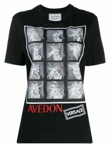 Versace Avedon photography print T-shirt - Black