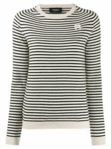 Rochas striped jumper - White