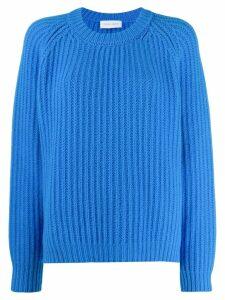 Christian Wijnants long-sleeve flared jumper - Blue