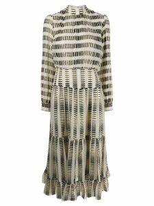 Saloni silk blend midi dress - Neutrals