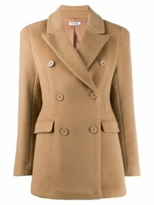 P.A.R.O.S.H. double-breasted short coat - Brown