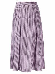 Joseph houndstooth pleated skirt - Purple