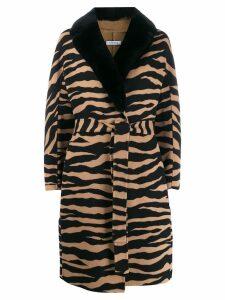 P.A.R.O.S.H. zebra print wool coat - Neutrals