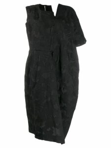 Comme Des Garçons asymmetric midi dress - Black