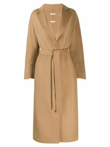 P.A.R.O.S.H. belted mid-length coat - Neutrals