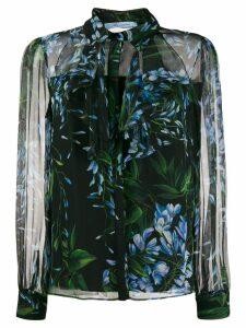 Blumarine floral print shirt - Black