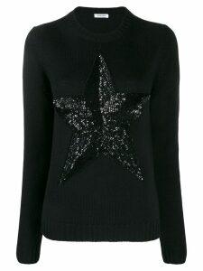 P.A.R.O.S.H. sequinned star jumper - Black