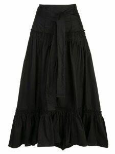 Proenza Schouler tie-waist flared midi skirt - Black