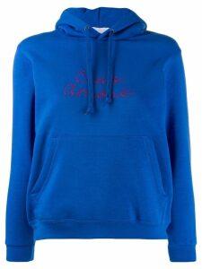 Giada Benincasa embroidered 'ciao amore' hoodie - Blue