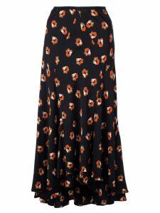 Diane von Furstenberg floral print flared skirt - Black