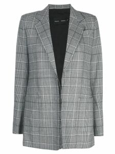 Proenza Schouler check notched lapel blazer - Grey