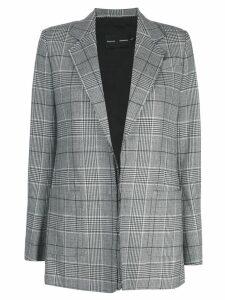Proenza Schouler check notched lapel blazer - Grey