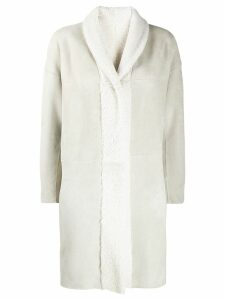 Salvatore Santoro shearling coat - White
