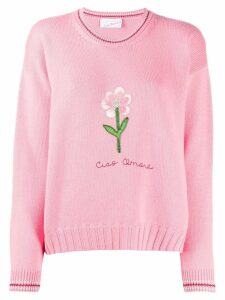 Giada Benincasa embroidered flower jumper - Pink