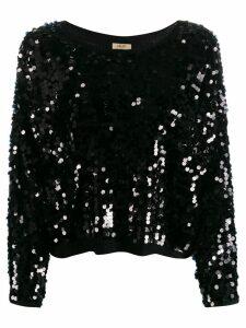 Liu Jo sequin embellished jumper - Black