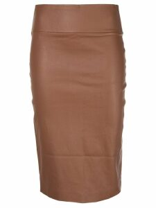 Sprwmn fitted pencil skirt - Brown