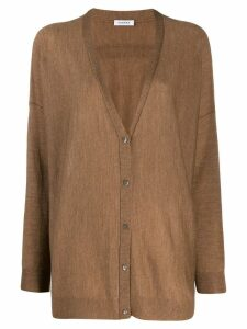 P.A.R.O.S.H. fine knit cardigan - Brown