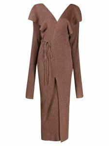Circus Hotel cutout draped dress - Brown