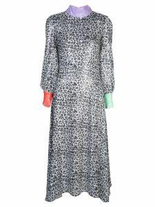 Olivia Rubin leopard print shift dress - Grey