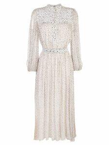 Adam Lippes speckle print chiffon dress - White