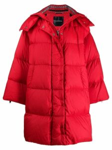 Ermanno Scervino detachable hooded coat - Red
