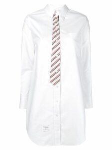 Thom Browne Oxford Shirt Dress - White