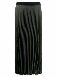 Moncler long pleated skirt - Green