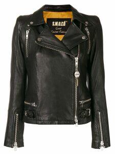 S.W.O.R.D 6.6.44 off centre zip jacket - Black
