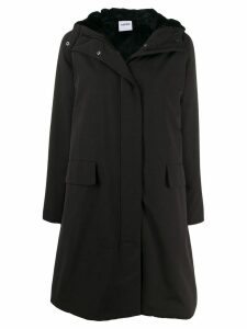 Aspesi padded hooded midi coat - Black