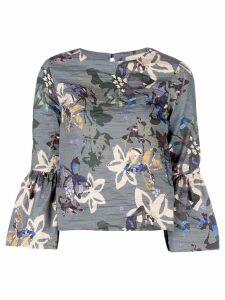 Nicole Miller autumn dream print blouse - Grey