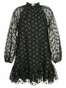 Cynthia Rowley florence mini flounce dress - Black