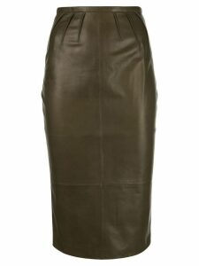 Rochas lambskin pencil skirt - Green
