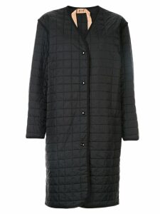 Nº21 padded grid coat - Black
