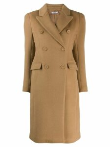 P.A.R.O.S.H. double breasted midi coat - Neutrals