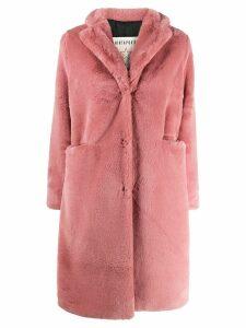 Shirtaporter faux fur coat - Pink
