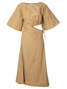 Wynn Hamlyn Memory open waist dress - Brown