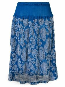 Issey Miyake Cauliflower botanical print skirt - Blue