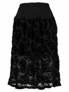 Issey Miyake Cauliflower botanical Lace skirt - Black