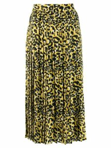 Gucci leopard print pleated skirt - Black
