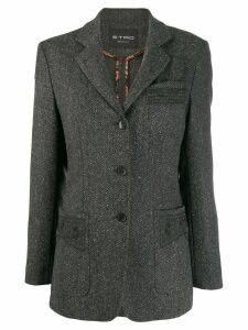 Etro herringbone patch pocket blazer - Grey